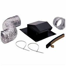 Broan Roof Vent Cap Duct Kit Roofing Attic Exhaust Fan Ventilation Installation