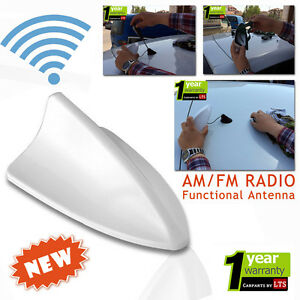 KIA SPORTAGE SHARK FIN FUNCTIONAL WHITE ANTENNA COMPATIBLE FOR SAV//NAT /& FM//AM