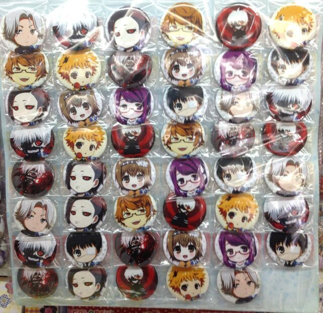 Tokyo Ghoul cute 4.3CM  40x LOT PIN back BADGES BUTTONS NEW PARTY BAG CLOTH
