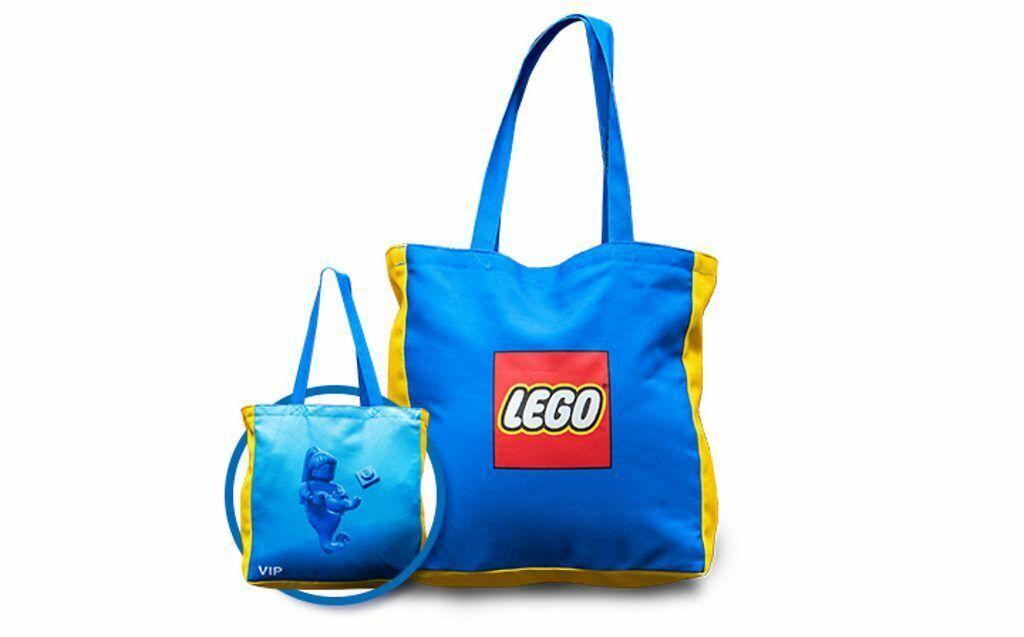 LEGO 5005910 VIP Exclusive Reversible  Canvas Tote borsa - Bre nuovo with Tag  la vostra soddisfazione è il nostro obiettivo