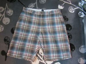 GAP-SUMMER-PLAIDS-BLUE-GREEN-SHORTS-34-034-WAIST