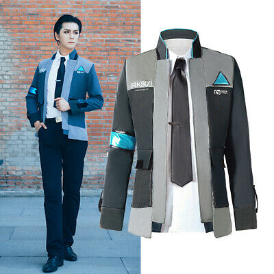 Detroit Become Human Connor Rk800 Cosplay Costume Suit Outfit Mens Coat Jacket Ebay