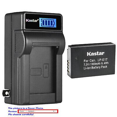 Ex-Pro LP-E17 LC-E17 Lcd Dual IR-Cargador USB 2x Batería para Canon EOS Rebel T6s
