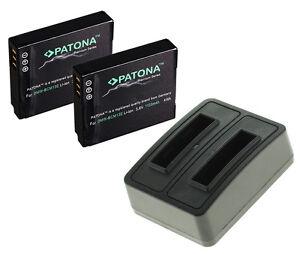 2-x-Akku-Dual-Ladegeraet-fuer-Panasonic-Lumix-DMC-FT5-DMC-ZS30-DMW-BCM13-E