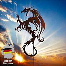 Drache Mystik in Edelrost 120cm  Gartenstecker