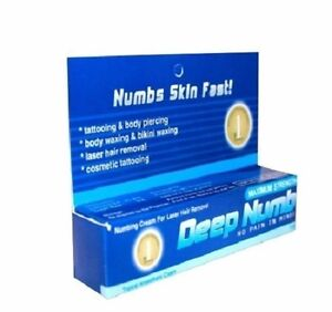 10g 200g deep numb skin numbing cream tattoo piercings for Waxing over tattoo