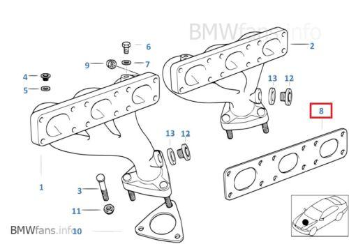 New BMW E36 M3 S52 E39 M52 Exhaust Manifold Gasket Cylinder Head Set 11621744252