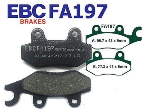 09-10 EBC Bremsbeläge FA197 HINTEN AJS Regal Raptor DD 125 E Cast Wheels