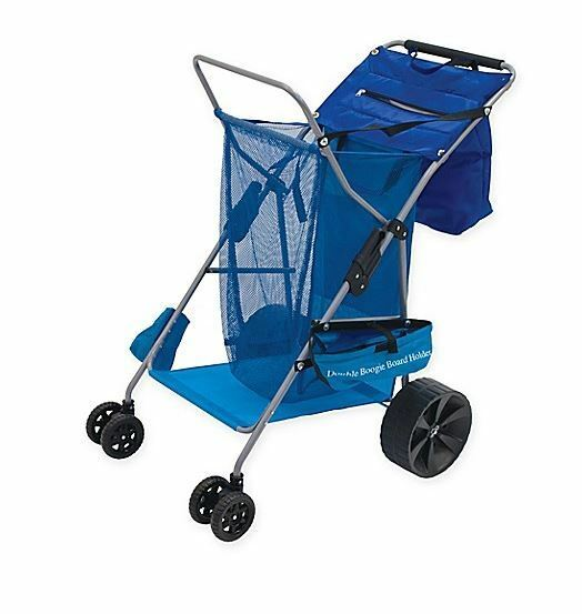37.8-in Home Outdoor Beach Pool Deluxe Beach Rolling Wheels Utility Cart Caddy