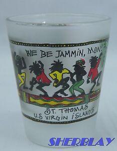 St-Thomas-U-S-Virgin-Islands-Shot-Glass-We-Be-Jammin-Mon-Caribbean-Color