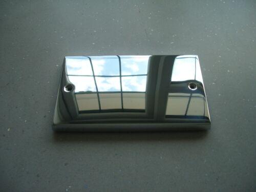 2 gang chrome blank plate Hamilton with flat head screws victorian square edge
