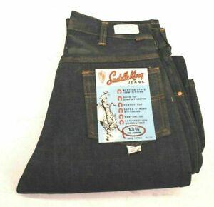 Vintage NOS 70's Saddle King Schlüssel Herren 31 Western Style Denim Blau Jeans robust