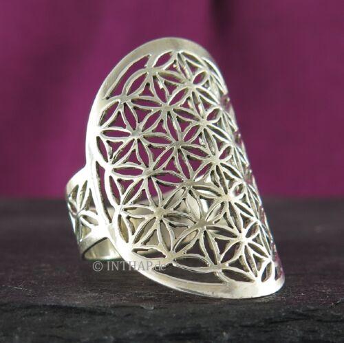 Ring 925 Sterling Silber - Blume des Lebens Lebensblume Damenring Fingerring neu