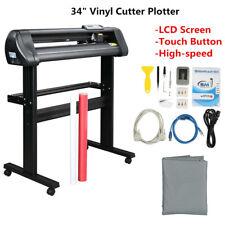 34 Vinyl Cutter Plotter Sign Cutting Machine Withsoftwaresupplies Lcd Screen