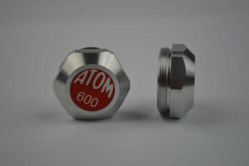 Maillard Atom 600 Aluminium pedals dust caps vintage Red