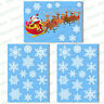 Santa Sleigh Vinyl Window Sticker + 36 Snowflake Clings Christmas Decorations