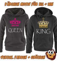 Pärchen Hoodie   KING And QUEEN   Krone   Damen und Herren   Liebe Love
