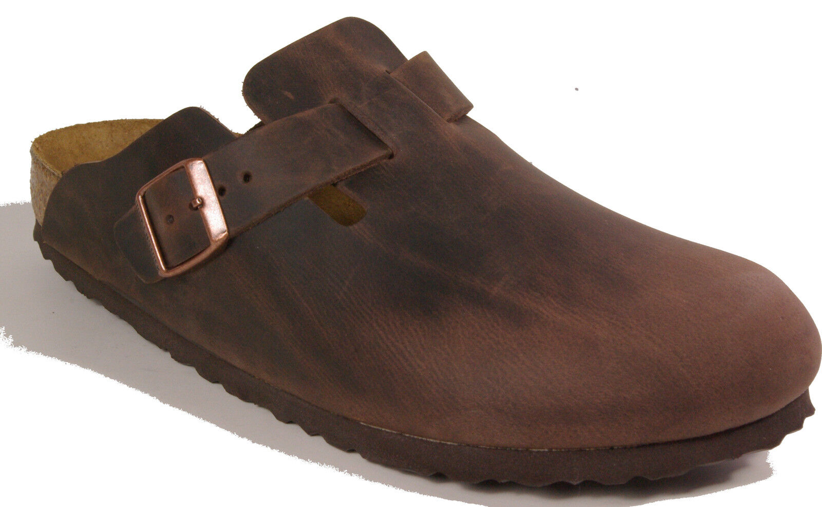 BIRKENSTOCK 0860131 BOSTON BOSTON BOSTON HABANNA Brown leather REGULAR footbed NEW cece20