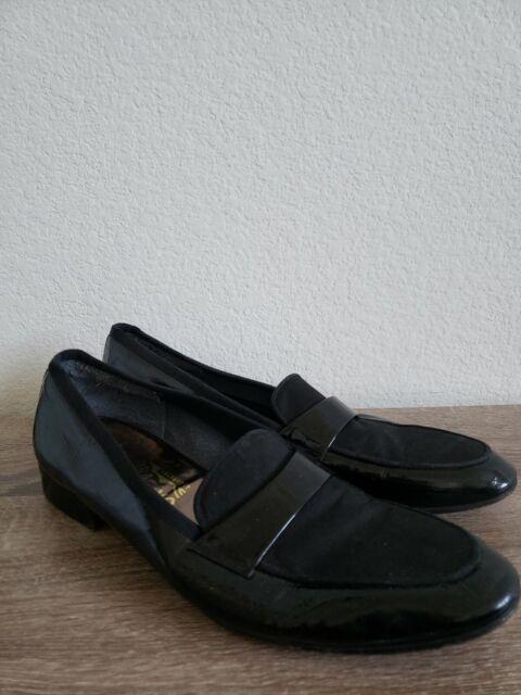 Salvatore Ferragamo Mens Black Leather Tuxedo Loafers Dress Shoes Size 12B