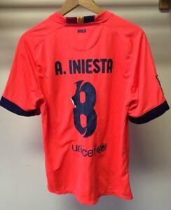 605c67fdd Barcelona FC Barça Nike 2014 15  8 Andres Iniesta Bright Orange ...