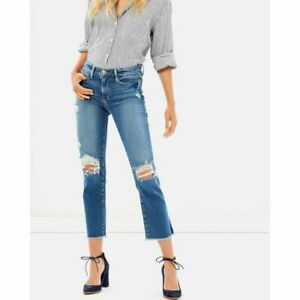 a27283510e59e FRAME Denim Nouveau Le Straight Raw Hem Jeans in Sackett 27  245 ...