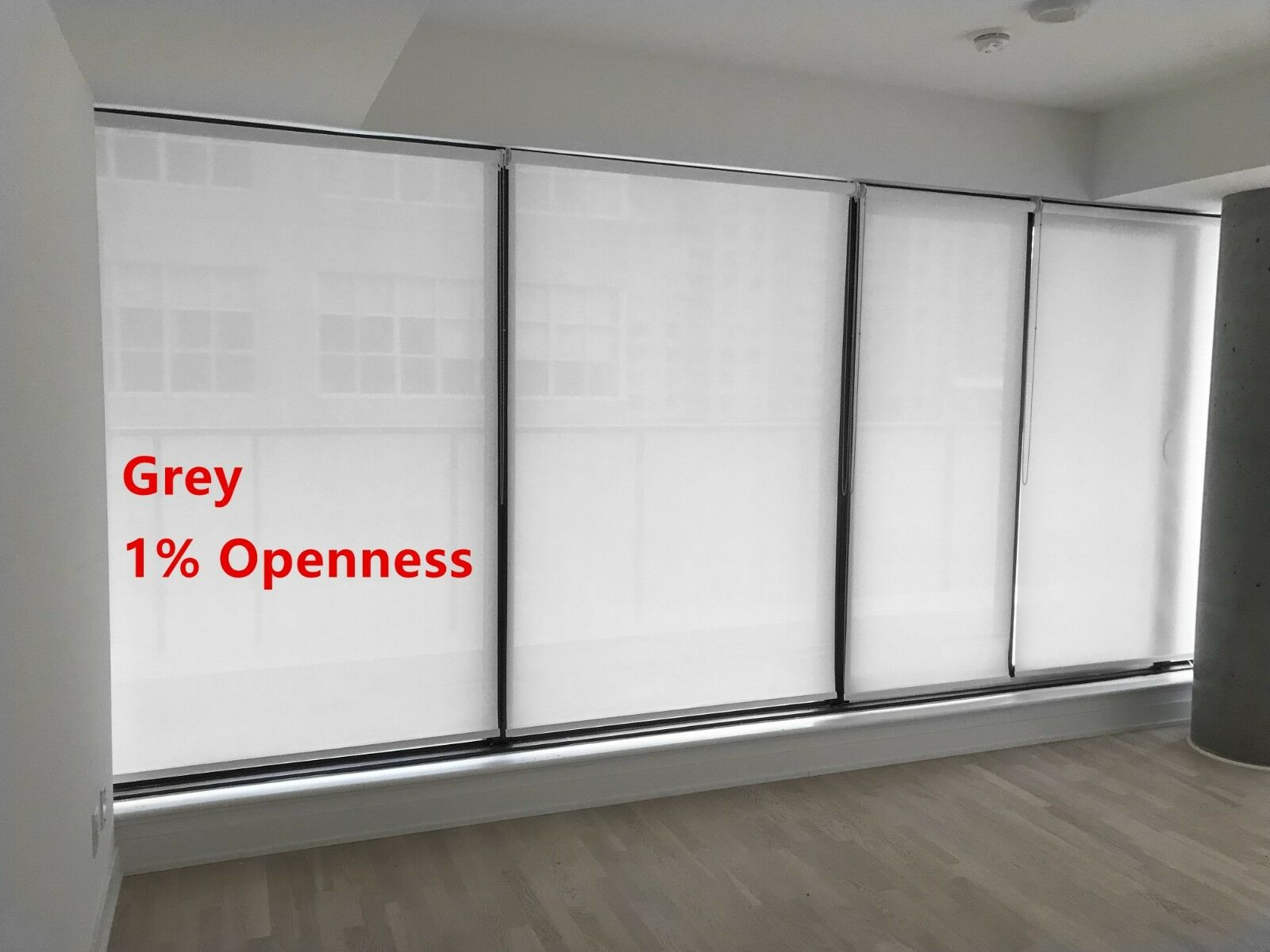 Roller Shade 1 Openness Grey Color Blind Home Window Custom Made In Canada Ebay