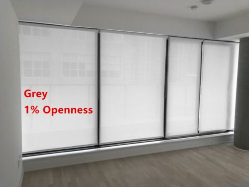 """Roller Shade 1/% Openness /""""Grey/"""" Color  Blind Home Window Custom Made In Canada"""