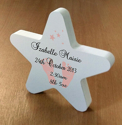 Beautiful Personalised Christening Birth Record Childrens Star Baby Gift Present
