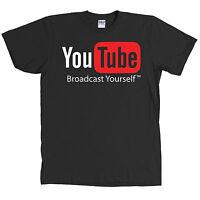 Youtube Logo Black T Shirt Video All Sizes &