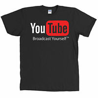 Youtube Logo Black T Shirt Video All Sizes &