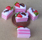 1:12 Scale 5 Strawberry Slice Cakes Dolls House Miniature Food Accessories PL103