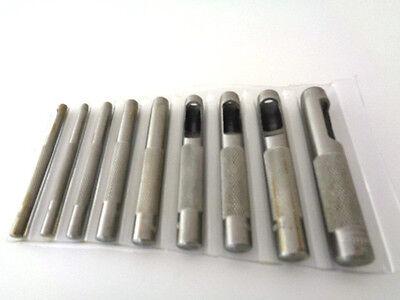 Locheisen 9 tlg. Lochpfeifen Lochstanzer Satz 3,2 -12,7 mm