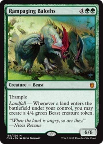 Beast Mythic RAMPAGING BALOTHS NM mtg Commander Anthology Green