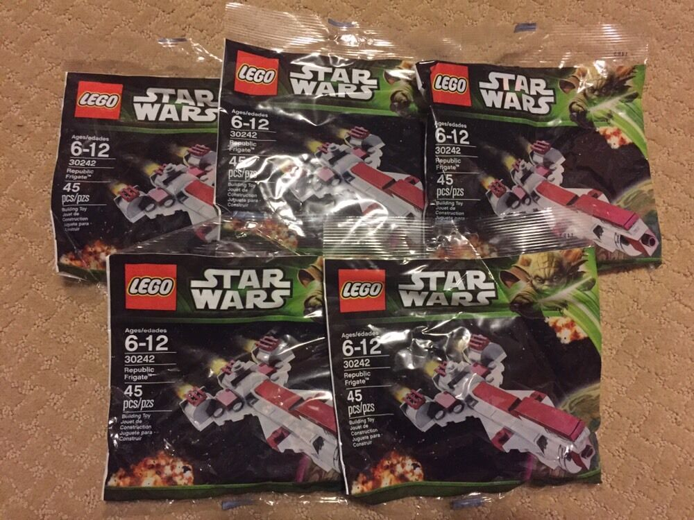 Lego Star Wars 30242 Republic Frigate Clone Wars PolyBorsa - Lot of  5  *NEW*