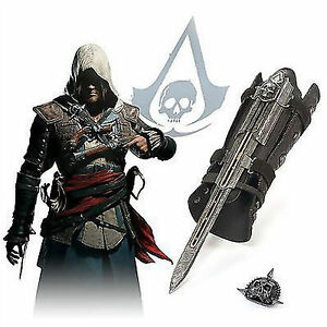 Assassin-039-s-Creed-4-Flag-Pirate-Costume-Hidden-Blade-Edward-Kenway-Gauntlet-Movie