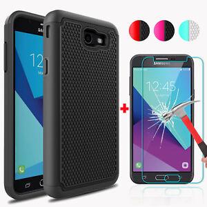 For-Samsung-Galaxy-J7-Prime-Sky-Pro-J7-V-Perx-Case-Cover-Glass-Screen-Protector