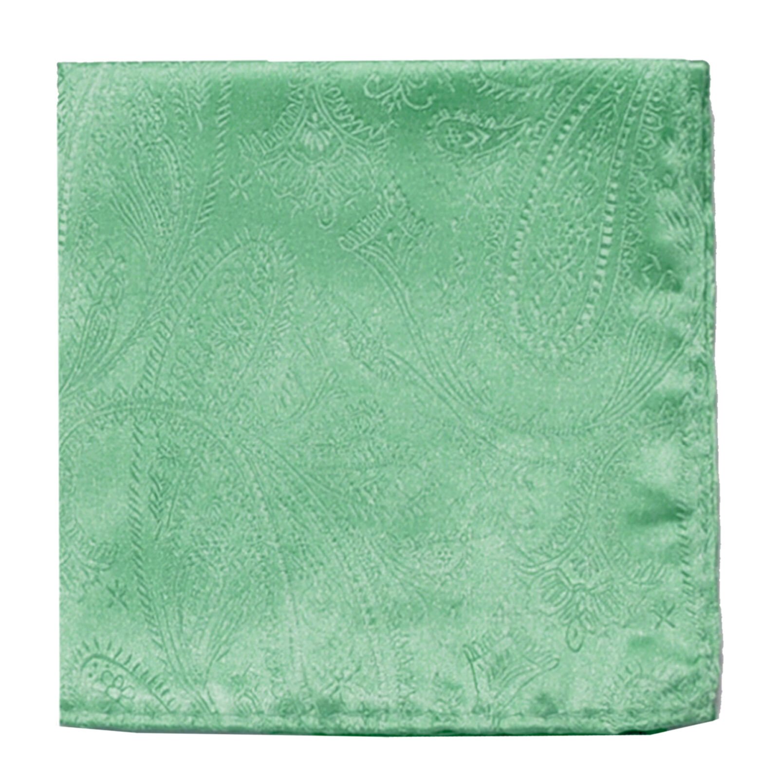 New men's polyester paisley aqua green hankie pocket square formal wedding prom