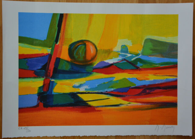 """Marcel Mouly """"Abstractions IV"""" Limited Edition Signed & Numbered Lithograph +COA"""
