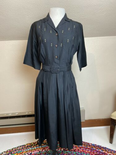 Vintage 1960's Norman Wiatt Black Rockabilly Shirt
