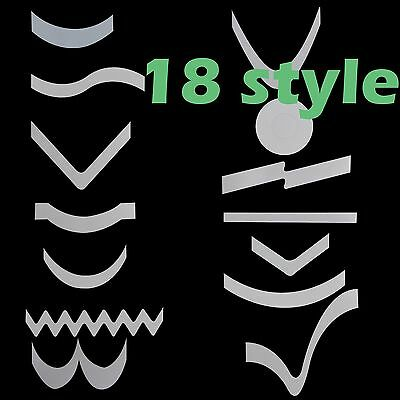 2 Packs French Manicure Nail Art Tips Form Guides Sticker DIY Stencil 18 Designs