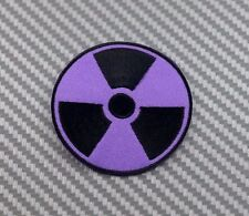 Embroidered Patch Iron Sew Logo WARNING RADIATION nuclear