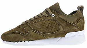 Djinns Easy Soc zapatos single skin Olive señores zapato de cuero nuevo