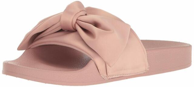9d51bffc955 Steve Madden Silky Bow Detail Slide Sandals 843 Pink 9 US for sale ...