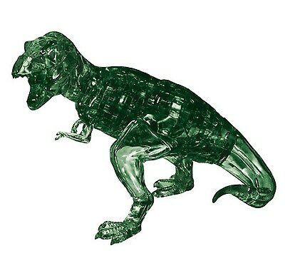 Jeruel 3D Crystal Puzzle DIY Jigsaw Toy Gift Dinosaur Trex Green Color Decorate