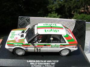 IXO-models-1-43-LANCIA-DELTA-HF-4WD-TOTIP-11-RALLY-SAN-REMO-1987-Fiorio-Pirollo