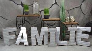schriftzug family buchstaben metall vintage retro. Black Bedroom Furniture Sets. Home Design Ideas