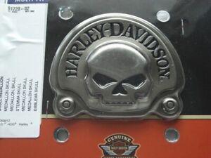 Harley Davidson Skull Totenkopf antique Nickel Medallion Emblem 91720-02