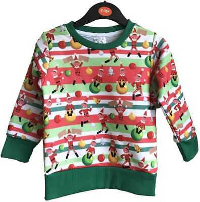 Naughty Elf Christmas Jumper Elves Kids Childrens Novelty Festive Sweatshirt