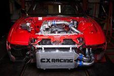"CXRacing 25""x11""x3"" FMIC Intercooler Kit + BOV For S13 S14 240SX RB20/RB25DET"