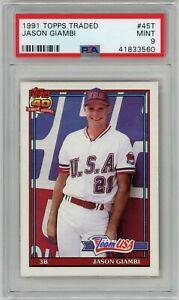 1991 Topps Traded #45T Jason Giambi RC Rookie (Athletics) PSA 9 MINT (Matte)